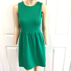 J.Crew Fit And Flare Green Sleeveless Dress